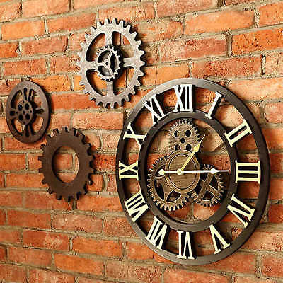 Industrial retro Large wall clock Antique Style Home Decor Roman numerals Clock