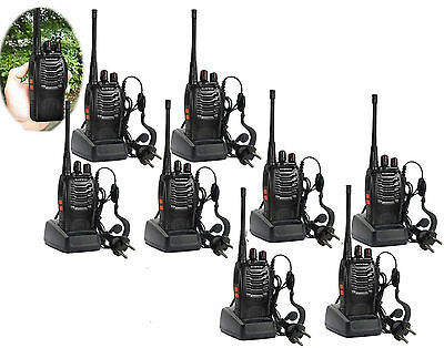 10 x Baofeng BF-888S UHF 400-470Mhz Two Way FM Radio Talkie + Charger + Earpiece
