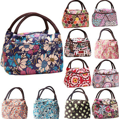 Insulated Lunch Bag Thermal Tote School Lunchbox Handbag Travel Picnic Food Bag