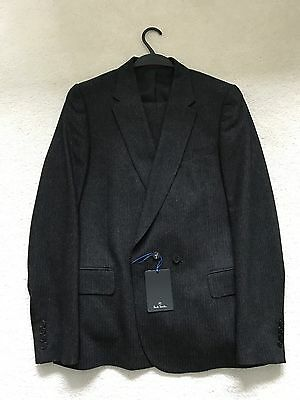"""Paul Smith """"PS""""  Charcoal  1 btn Single Breasted  Suit - 40/50"""