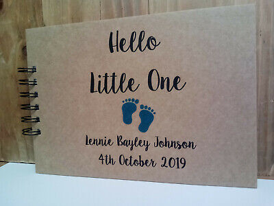 Personalised New Baby Girl Or Boy Memory Book Scrapbook Gift Christening Gift