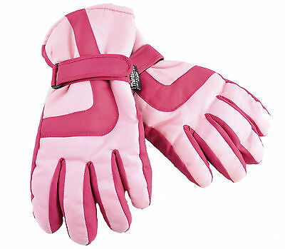 Girl's Thinsulate Pink Thermal Ski Gloves Age 6-13 Years Available
