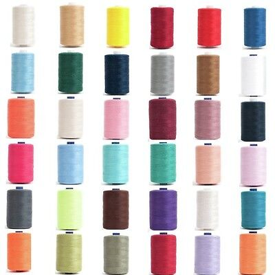 Hemline 1000m Overlocking and Sewing Thread Machine Or Hand Polyester