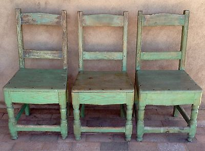 3 Antique New Mexico Chairs Delivery Possible