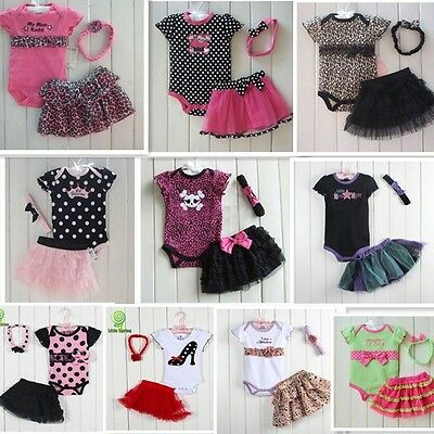 2016 New Baby Girl Baby Girls Clothing Set 3PCS: headband+shirt+pant Princess