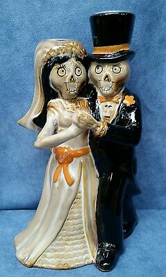 "Yankee Candle Halloween Boney Bunch 2016 ""Last Tango"" Taper Candle Holder NEW!!"