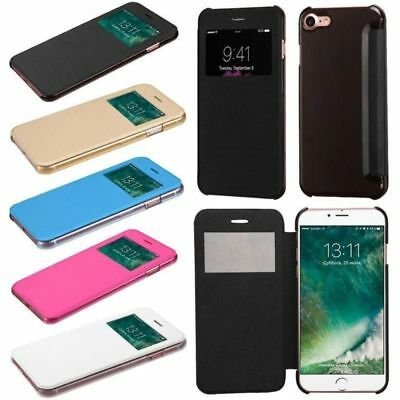 For Apple iPhone 7 /Plus Flip Leather Wallet View Screen Case Window Cover