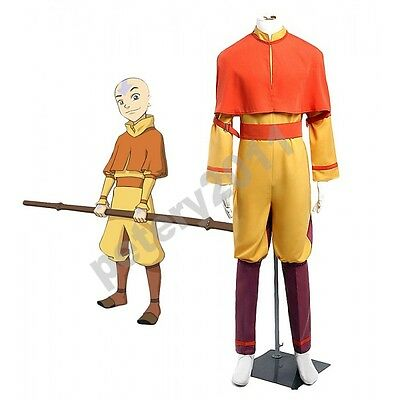 Avatar The Last Airbender Aang Cosplay Costume Halloween