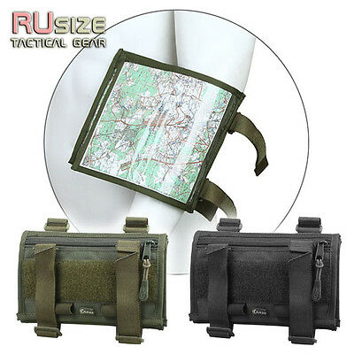 Tactical Map Case for the arm Military Pouch Document Holder Bag Airsoft Army