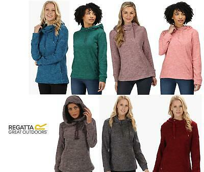 REGATTA WOMENS KIZMIT FLEECE HOODED COWL NECK TOP RWA211 From £14.99 Free Post