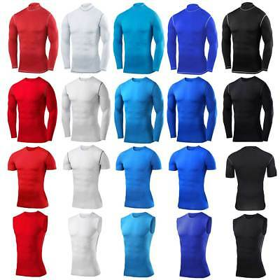 Mens Sports Exercise Compression Top Vest Tights Thermal Skins Base Layer Armour