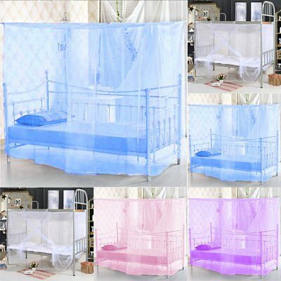 Useful 4 Corner Bed Canopy Mosquito Fly Net Full Queen King Size Netting Bedding