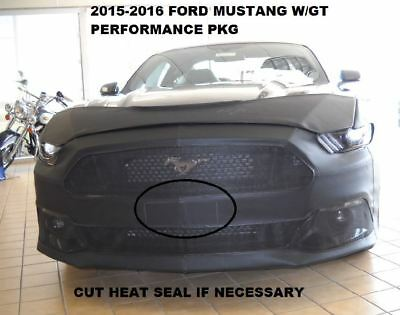 Lebra Front Mask Cover Bra Fits 2015-2017 Ford Mustang - W/GT Performance Pack