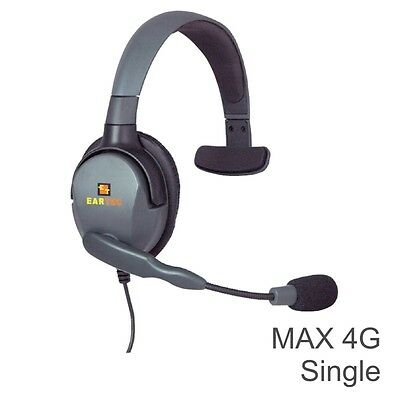 Eartec MAX 4G Single Headsets for Wired Intercom Systems