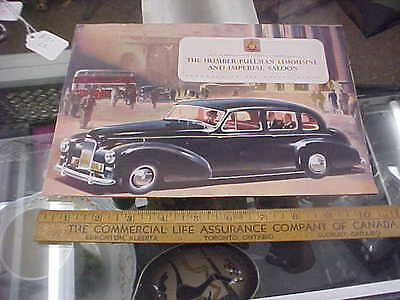 rare original brochure the humber pullman limousine & imperial saloon