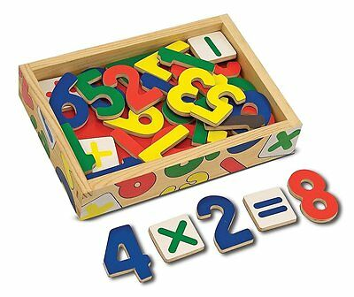 NEW Melissa & Doug Magnetic Wooden Numbers Learning Toy FREE SHIPPING