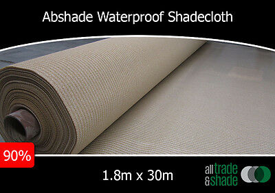 Waterproof Shade Cloth 1.83M x 30M Roll 90% Shade Factor in Sandstone