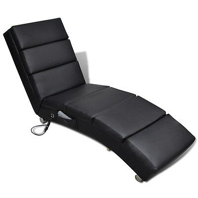 New 8 Points Black Electric Massage Chair Recliner Functional Remote Control PU