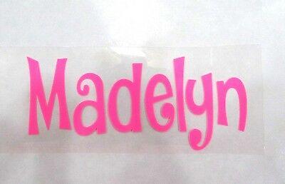 "2""X6"" DIY Iron On Name Pick Color & Font, Matte, Glitter or Neon - Ships FREE!"
