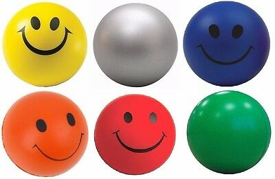 2 x Smiley Face Anti Stress Reliever Ball Foam Sponge  Autism Mood Toys Squeeze