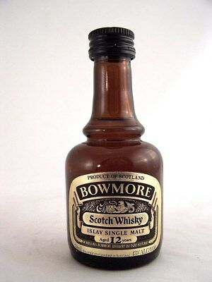 Miniature circa 1984 BOWMORE 12yo ISLAY Malt Whisky Isle of Wine