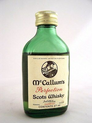 Miniature circa 1978 McCALLUM'S PERFECTION SCOTS WHISKY Isle of Wine