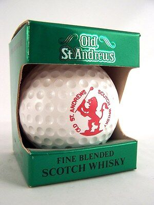 Miniature circa 1986 OLD St ANDREWS GOLF BALL WHISKY Isle of Wine