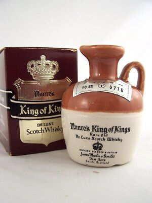 "Miniature circa 1975 MUNRO'S KING of KING""S De Luxe Whisky Ceram Isle of Wine"