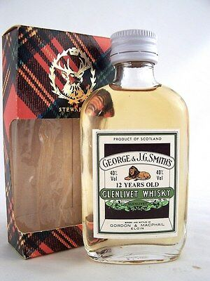 Miniature circa 1973 GEORGE & J.G. SMITH'S GLENLIVET 12yo Whisky Isle of Wine