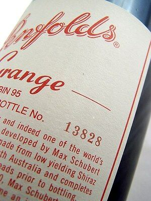 2004 PENFOLDS Bin 95 GRANGE Shiraz BOTTLE No 13828 Isle of Wine