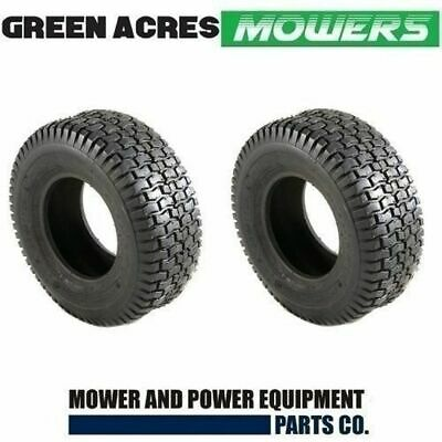 2 x TYRES 15 x 6.00 x 6 FOR RIDE ON MOWERS