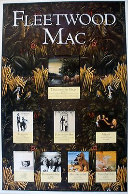 Fleetwood Mac Tango In The Night 1987 Vintage Music Record Store Promo Poster