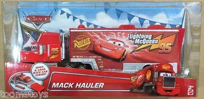 Disney Pixar Cars Mack Hauler Rust-eze Aeroliner Trailer Authentic Mattel