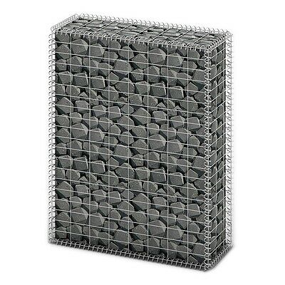 New Gabion Wall 4mm Strong Metal Gabions Basket Cage 100x80cm Galvanized Steel