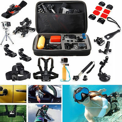 AU Pack Case Head Chest Monopod Bike Helmet Mount for GoPro Hero Accessories