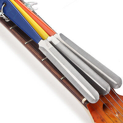 3Pcs Guitar Fret Crowning Luthier Stainless Steel Dual Cutting Edge File Set new