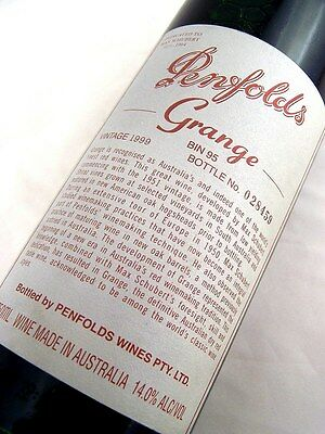 1999 PENFOLDS Bin 95 GRANGE Shiraz BOTTLE No 028459 Isle of Wine