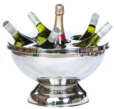 Ice Bucket Wine Champagne Cooler Chiller Large Stainless Steel 6 Bottle Holder