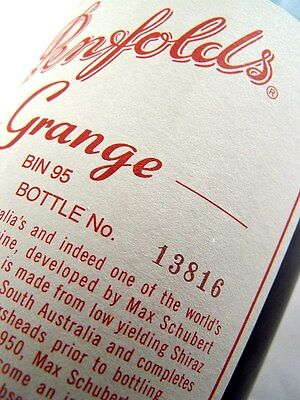 2004 PENFOLDS Bin 95 GRANGE Shiraz BOTTLE No 13816 Isle of Wine