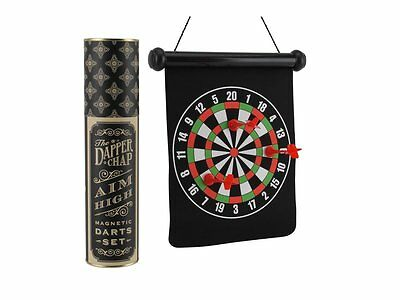The Dapper chap portable magnetic darts set roll up dart board father's day gift