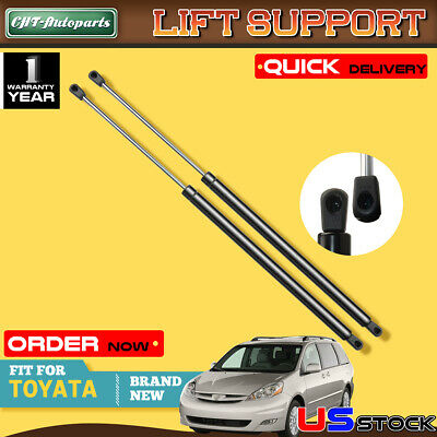 2 Rear Liftgate Tailgate Lift Supports Shocks Fit 2004-10 Toyota Sienna