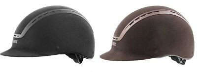 Uvex SUXXEED VELOURS Riding Helmet Adjustable Hat Kite Marked VG1 Black/Bro XS-L