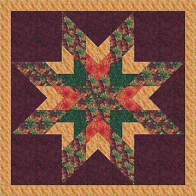 AUTUMN IS HERE!  STAR QUILT TOP, Machine Pieced, Made in the USA