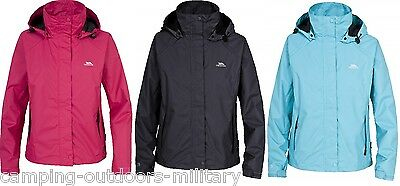 NEW Trespass Ladies Waterproof Rain JACKET Breathable Lined Womens Hiking Hooded