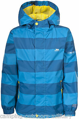 Smart Trespass WATERPROOF Jacket Hooded Blue Taped Seams Windproof Childs Boys