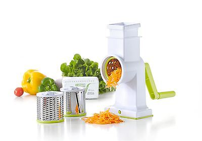 Vinsani Spiralizers Hand Held White Drum Grater Includes 3 Better Grip&Stability