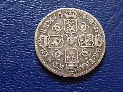 Great Britain - Charles 11 Silver Sixpence 1674 - Rare Date