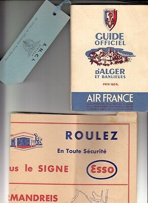 Guide Officiel D'alger Et Banlieues  Avec Carte (Esso / Air France)