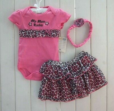 New Baby Girl Baby Girls Clothing Set 3PCS: headband+shirt+pant Princess Rose