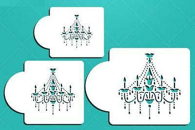set 3 TIER chandelier DESIGNER STENCIL CAKE DECORATING lace WEDDING FONDANT